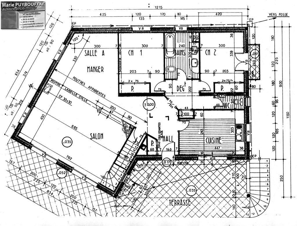 Exemple plan d 39 architecte de maison for Architecte plan maison gratuit
