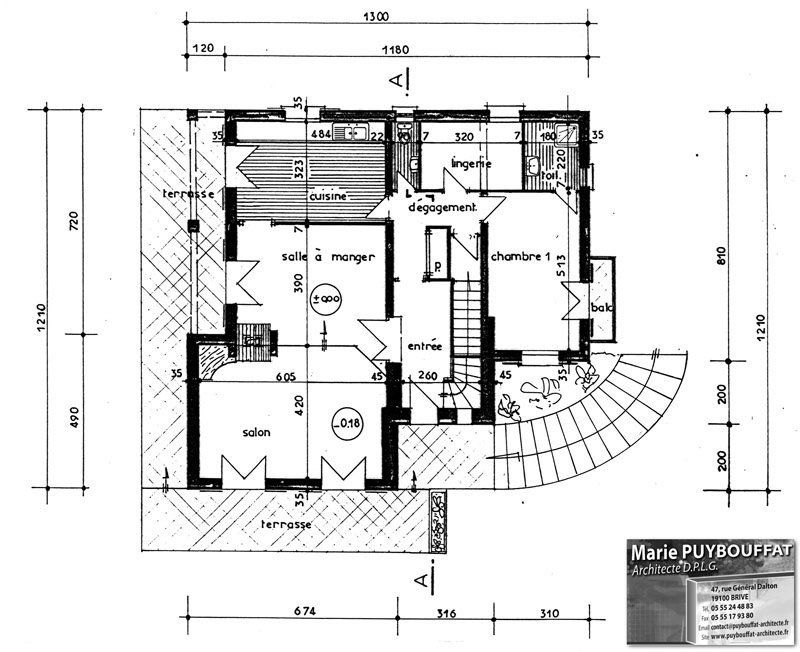 Plan d architecte de maison plan maison cube niveaux for Plan architecte maison